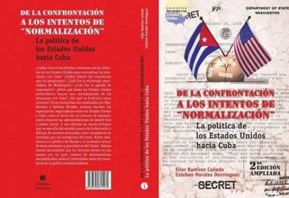 Portada y contraportada de La política de los Estados Unidos hacia Cuba