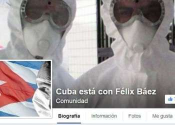 Comunidad creada en Facebook para apoyar al médico cubano Félix Báez Sarría.
