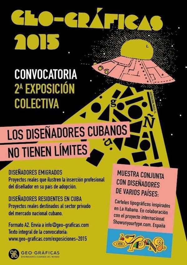 Cartel de la Convocatoria a la Segunda Exposición Colectiva de Geo-gráficas.