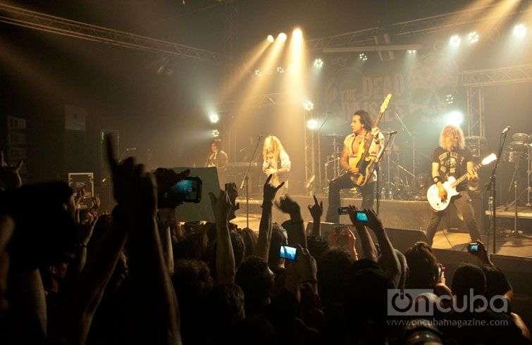 Concert of The Dead Daisies in Maxim Rock, Havana, Cuba, February 25th,  2015 / Photo: Roberto Ruiz