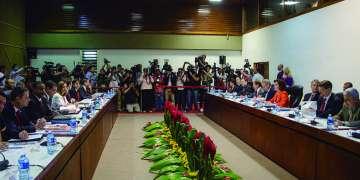 Ronda de conversaciones oficiales entre Cuba y EE.UU. La Habana, 23 de enero de 2015