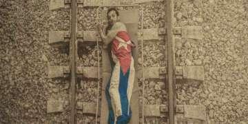 David Velázquez. Fotografía en lienzo. Expuesto en Zona Franca. 12 Bienal de La Habana. Foto: Dazra