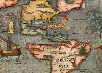 Mapa de América de Sebastian Munster. Siglo XVI