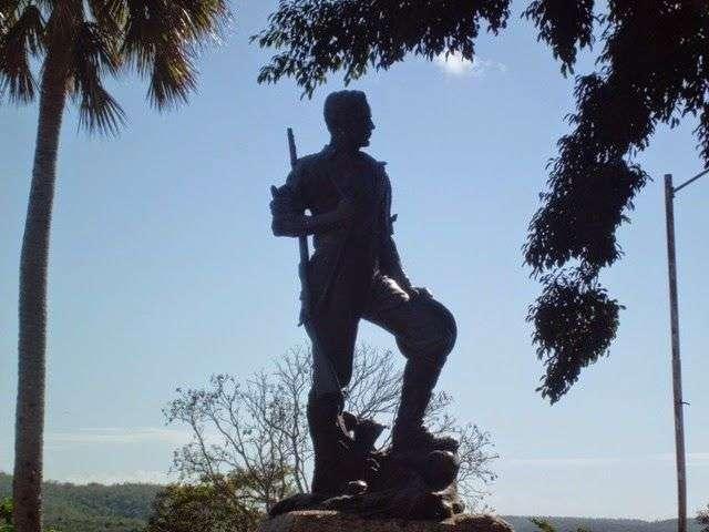 Escultura al soldado norteamericano Parque San Juan en Santiago de Cuba / Foto: Reinaldo Cedeño