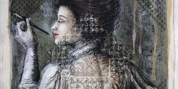 Instante fugaz, Mixta sobre lienzo 74x74cm / Yudit Vidal
