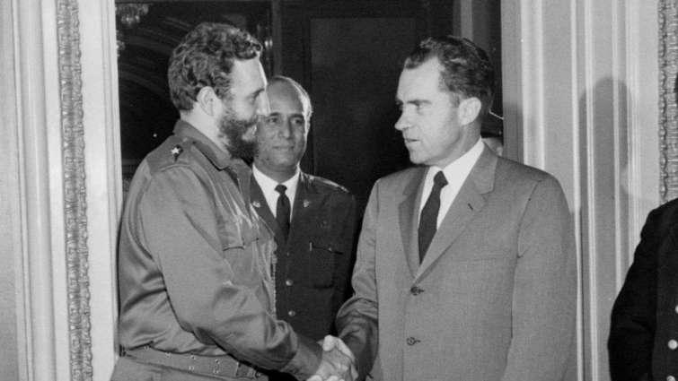 Fidel Castro se encontró con el entonces vicepresidente Richard Nixon durante su primera visita a Estados Unidos después del triunfo de enero de ese año.