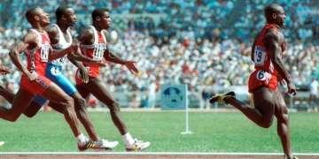 El canadiense Ben Johnson, conocido por su descalificación por dopaje después de ganar la final de los 100 metros en los Juegos Olímpicos de Seúl 1988.