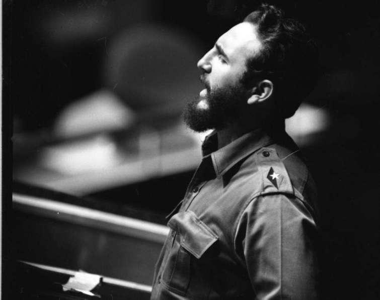 Habla en la Asamblea General de las Naciones Unidas, el 26 de septiembre de 1960. El discurso duró 4 horas y 29 minutos.