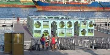Maqueta de Parawifi. Paseo flotante de la Avenida del Puerto, La Habana Vieja.
