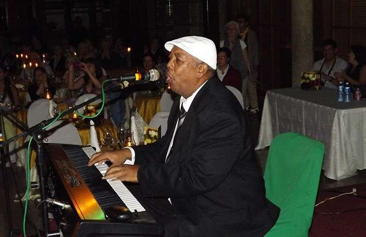 Jorge Boulet at the piano: Photo: Taken from Cuban Old Music's Facebook.