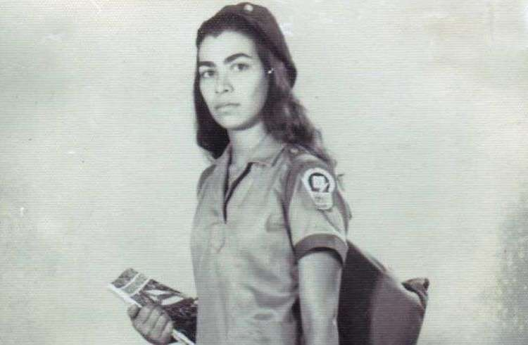 Sonnia Labrada en los días de la campaña de alfabetización. Foto: cortesía de la entrevistada.