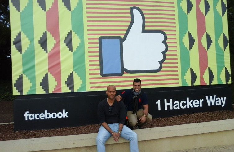 Víctor and Fabián during their trip to the United States. Photo: NinjaCuba / Facebook.