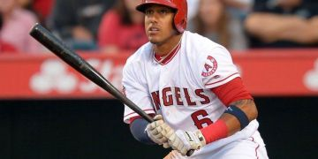 "Yunel Escobar, ""el Gambao"". Foto: Jayne Kamin / USA TODAY Sports."