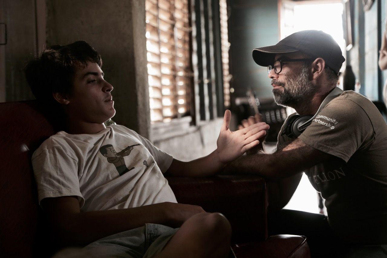 """Damián González y Armando Capó (director de """"Agosto"""")."""