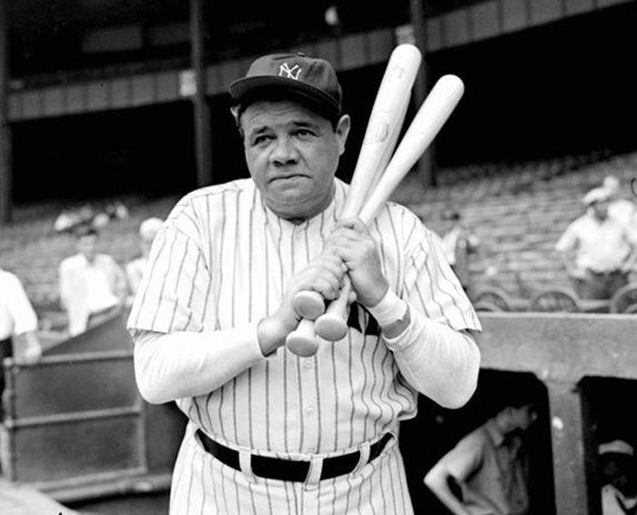 """El """"bambino"""" Babe Ruth sigue siendo el paradigma del jonronero. Foto: baseballfam.com."""