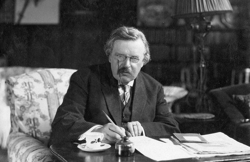 G. K. Chesterton (1874-1936).