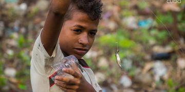 Pescadores en el río Bélico de Santa Clara. Foto: Yariel Valdés.