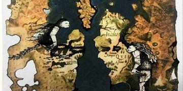Fragmento del mapa del mundo donde se desarrolla la novela El secreto de los milenios, de Glauber Adrián Senarega. Foto: cortesía del escritor.