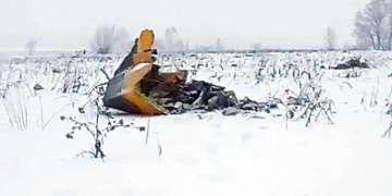 Fotografía de archivo del sábado 4 de marzo de 2017, en la que aparece un avión ruso de inteligencia electrónica Il-20 de la Fuerza aéRea Rusa y que fue derribado accidentalmente por las fuerzas sirias en respuesta a un ataque aéreo israelí, mientras vuela cerca del aeropuerto de Kubinka, en las afueras de Moscú, Rusia. Foto: Marina Lystseva / AP.