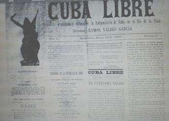 Portada del número 2 del periódico Cuba Libre, correspondiente al 12 de enero de 1896. Foto: Oscar Montaño González / Granma.