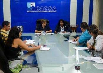 Conferencia de prensa del Instituto de Aeronáutica Civil de Cuba (IACC). Foto: Abel Padrón / ACN.