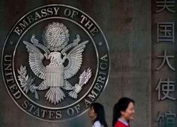 Embajada de Estados Unidos en China. Foto: AP.