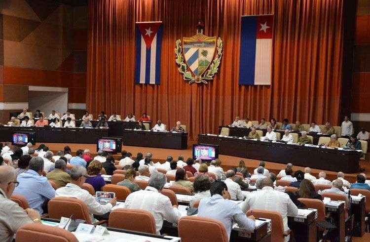 Sesión de la Asamblea Nacional del Poder Popular de Cuba. Foto: parlamentocubano.cu.