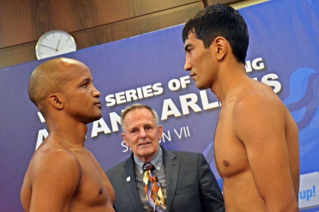 El enfrentamiento de Roniel Iglesias contra Aslanbek Shymbergenov será una de las claves del cartel decisivo. Foto: WSB