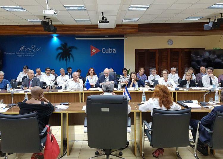 Ronda diálogo sobre derechos humanos entre la Unión Europea y Cuba en La Habana. Foto: @PedroPedrosoC / Twitter.