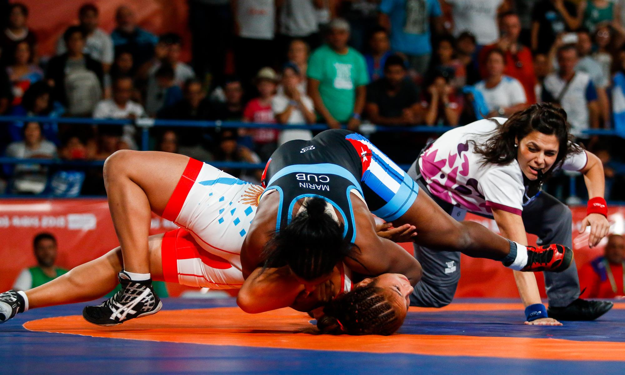 Milaimys de la Caridad Marín fue un huracán en Buenos Aires y logró la primera medalla olímpica de la lucha femenina cubana. Foto: Calixto N. Llanes