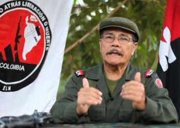 """Nicolás Rodríguez Bautista, alias """"Gabino"""", líder de la guerrilla del ELN de Colombia. Foto: fmlaser1035.com"""