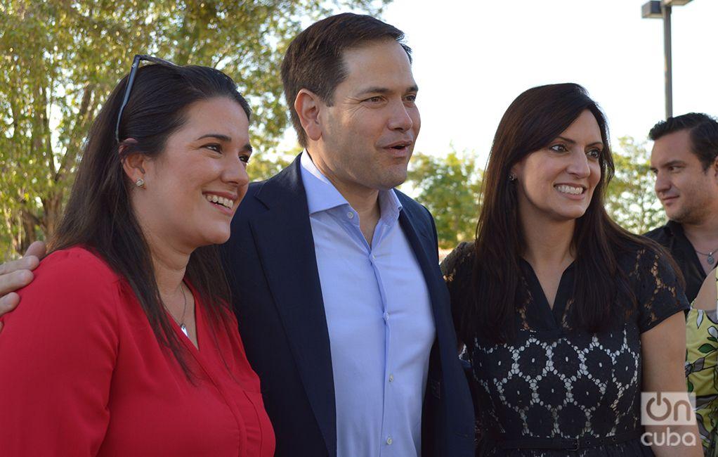 Nuñez fue apoyada desde el inicio por Rubio. Foto: Marita Pérez Díaz.