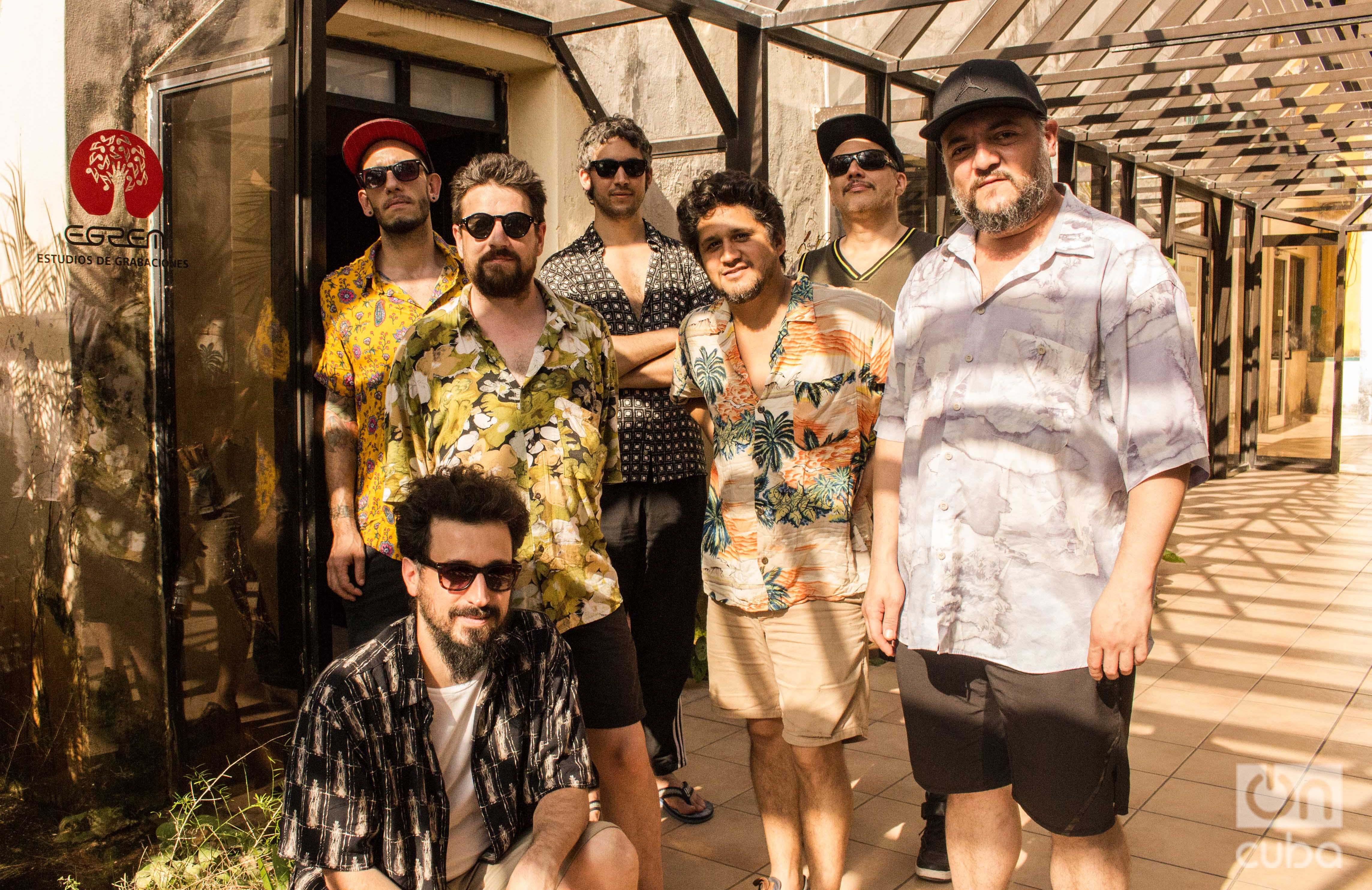 Los Espíritus en los Estudios de Grabaciones de la EGREM. Foto: Rosario Ojeda.