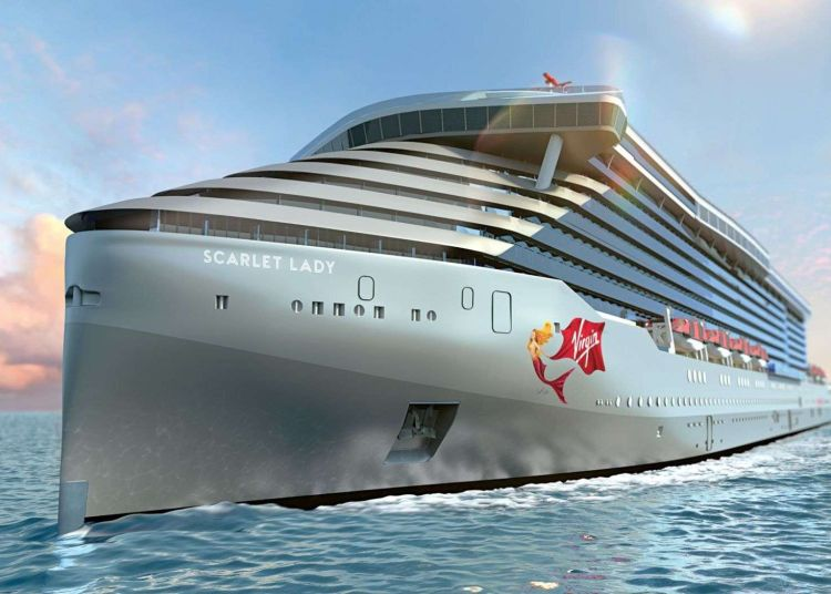 El Scarlet Lady, de Virgin Voyages, llegará a La Habana en 2020. Foto: Virgin Voyages.