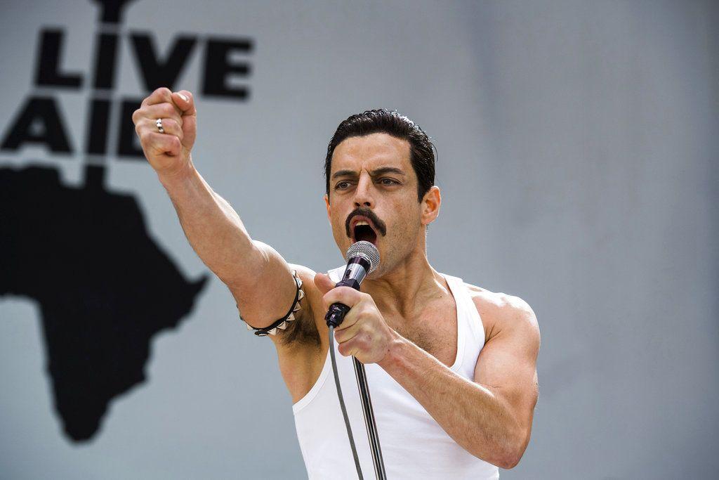 """Rami Malek en una escena de """"Bohemian Rhapsody"""". (Alex Bailey/Twentieth Century Fox vía AP)"""