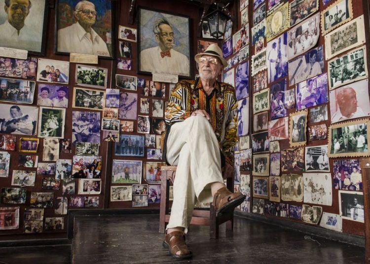 Lino Betancour en la Casa de la Trova de Santiago de Cuba. Foto: Enrique Smith.