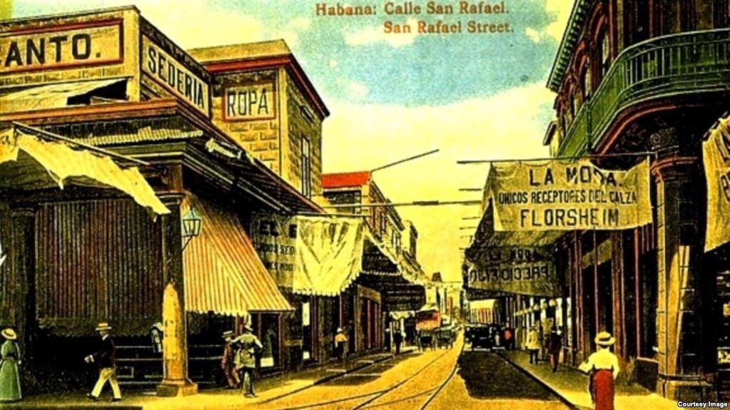 Recreación de la esquina de Galiano y San Rafael hecho por un artista plástico norteamericano en el mejor estilo de las películas de vaqueros.