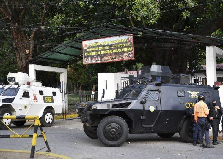 Fuerzas de la Guardia Nacional de Venezuela. Foto: La Nación.
