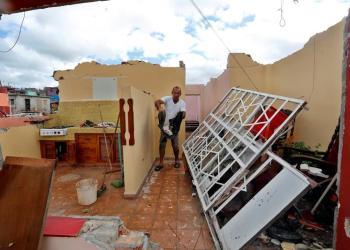 Daños provocados por el tornado del 27 de enero de 2019. Foto: EFE.