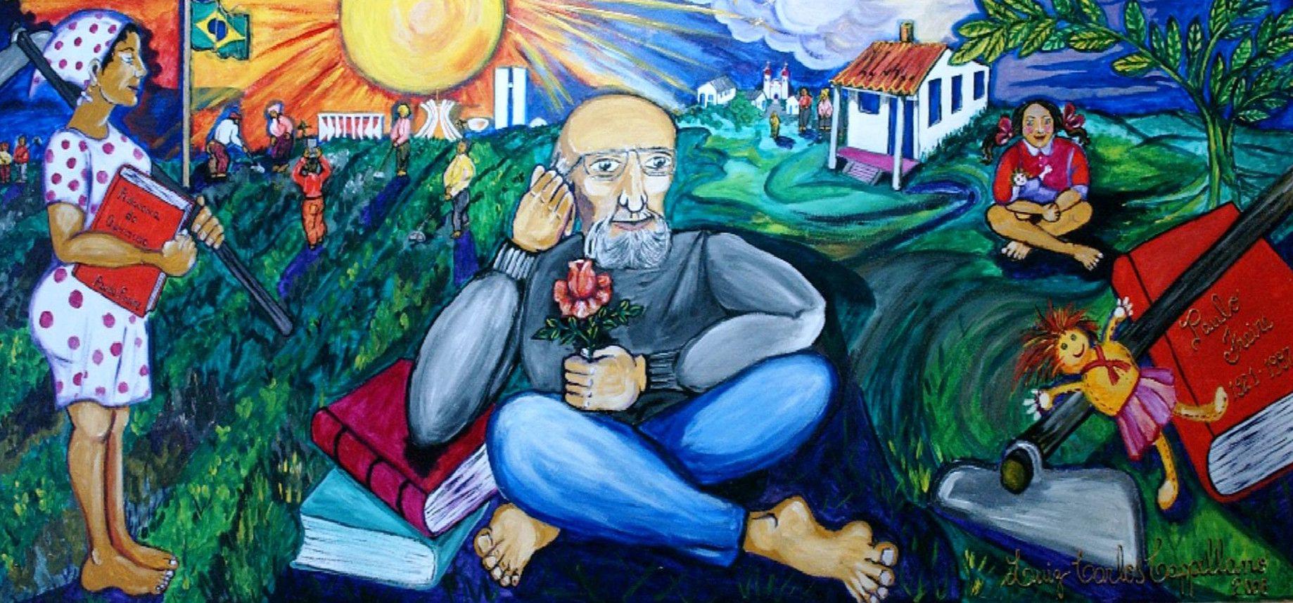 Mural de homenaje a Paulo Freire. Foto: Wikimedia.