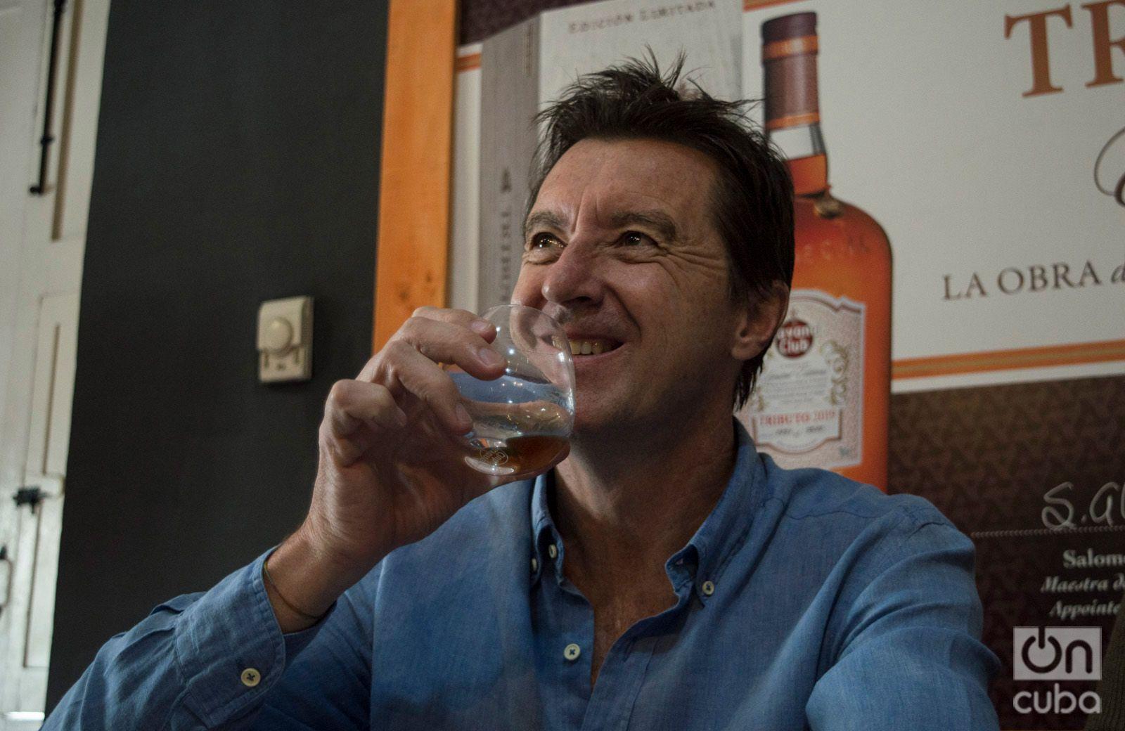 Christian Barré, director general de la compañía Havan Club Internacional, en la presentación dle ron Tributo 2019. Foto: Otmaro Rodríguez.