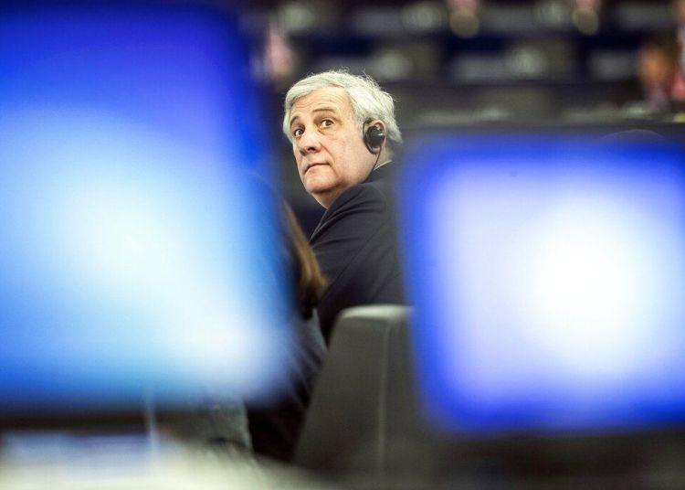 El presidente del Parlamento Europeo Antonio Tajani en el Parlamento Europeo el miércoles 27 de marzo de 2019 en Estrasburgo, Francia. Foto: Jean-Francois Badias / AP.