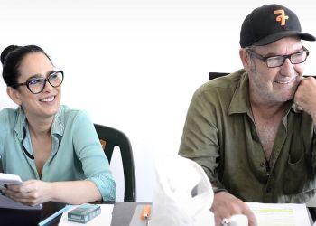 Los actores Jacqueline Arenal y Jorge Perugorría. Foto: Perfil de Facebook de Jau Films.