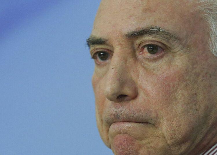Michel Temer en una pausa durante un discurso en el Palacio Presidencial de Planalto, en Brasilia, en 2018, cuando era presidente de Brasil. Foto: Eraldo Peres / AP / Archivo.