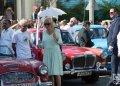 El Príncipe Carlos de Inglaterra y su esposa Camila, duquesa de Cornualles, visitan una exhibición de autos clásicos británicos en los alrededores del parque de 17 y 6 en el Vedado, La Habana, el 26 de marzo de 2019. Foto: Otmaro Rodríguez.