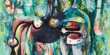 Wifredo Lam: El sombrío Malembo, Dios de la encrucijada, 1943.