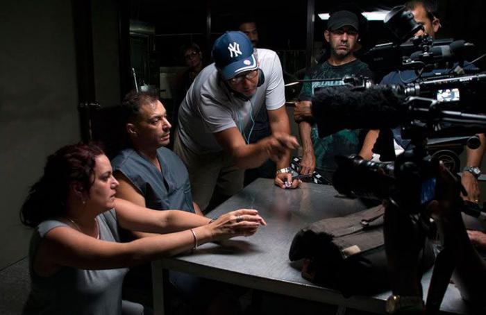 """Durante la filmación de """"El regreso""""."""