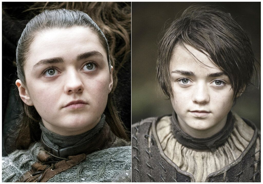 "La actriz Maisie Williams como Arya Stark en ""Game of Thrones"". La temporada final de la popular serie se estrena el 14 de abril. Foto: HBO vía AP."