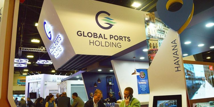 Global Ports Holding en el evento Seatrade Global. Foto: Marita Pérez Díaz.