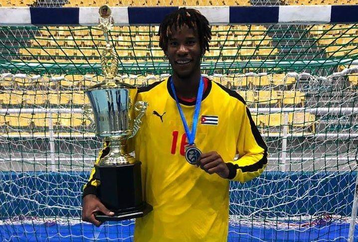 El portero cubano Magnol Suárez fue vital en la clasificación al Mundial de Naciones Emergentes. Foto: Tomada del Facebook de Ronnie Suriz